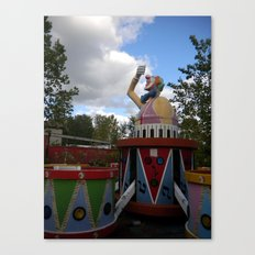 Over Grown Clown Ride Canvas Print