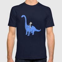 Dinosaur B Mens Fitted Tee Navy SMALL
