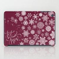 Let It Snow - Berry iPad Case