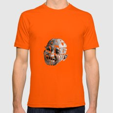 Be The Change Mens Fitted Tee Orange SMALL