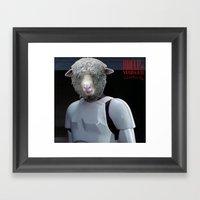 Laugh it up fuzzball Framed Art Print