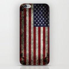 USA Flag In Super Dark G… iPhone & iPod Skin