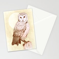 Barn Owl recolour Stationery Cards
