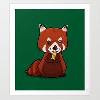 Red Panda Lolly Art Print