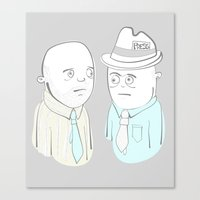 News Reporters Staring Contest Canvas Print