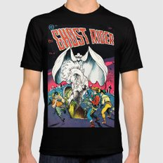 The Ghost Rider Vintage Golden Age Comic Art Mens Fitted Tee Black SMALL