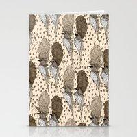 Bouffant Birds Pattern Stationery Cards