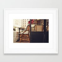 Paris Cafe Framed Art Print