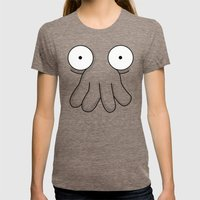 Dr. Zoidberg Womens Fitted Tee Tri-Coffee SMALL