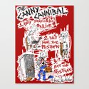 the Canny Cannibal Canvas Print