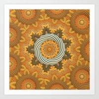 Twisted Rings Art Print