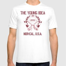 The Young Idea - NorCal Emblem SMALL White Mens Fitted Tee