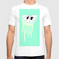 Lime Mens Fitted Tee White SMALL