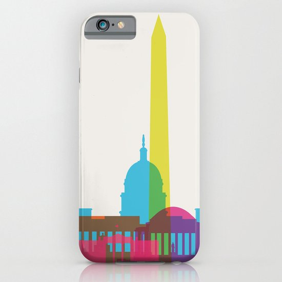 Shapes of Washington D.C. Accurate to scale iPhone & iPod Case
