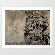 Berlin Street Art concrete Art Print