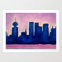 Sundown Vancouver Art Print