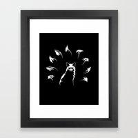 Nine-Tailed Fox, Kitsune Framed Art Print