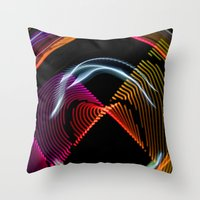 Experiments In Light Abs… Throw Pillow
