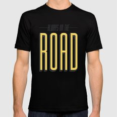Always On The Road Mens Fitted Tee SMALL Black