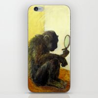 Monkey in the Mirror iPhone & iPod Skin
