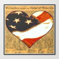 Happy Birthday America Canvas Print