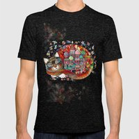 Moscow Cat - St. Basil - Red Square Mens Fitted Tee Tri-Black SMALL