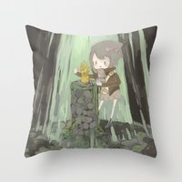 Lost Gauntlet  Throw Pillow
