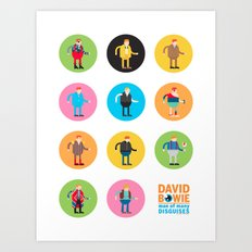 David Bowie Man of Many Disguises Art Print