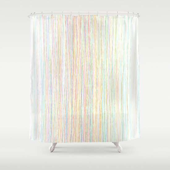 Modern trendy colorful hand drawn line art shower curtain Trendy curtains