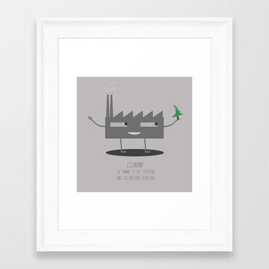 Economnomy Framed Art Print