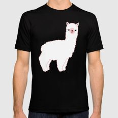 The Alpacas II SMALL Black Mens Fitted Tee