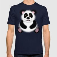Panda Mens Fitted Tee Navy SMALL