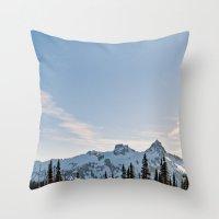 Mountain Ridge in the Sun Throw Pillow