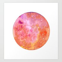 Jupiter Moon Art Print