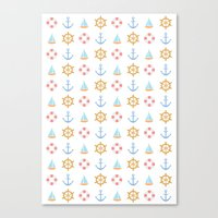 The Essential Patterns of Childhood - Sailing Canvas Print