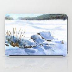 A Winter Study In Blues iPad Case