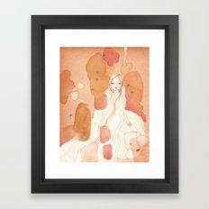 Polar bear Girl Framed Art Print