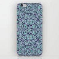 Ethnic Geo Teal & Plum iPhone & iPod Skin