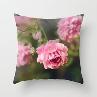 Pink Drift Throw Pillow
