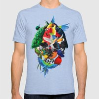 Avian skull Mens Fitted Tee Tri-Blue SMALL