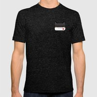 Convo Cats! Jiji Mens Fitted Tee Tri-Black SMALL