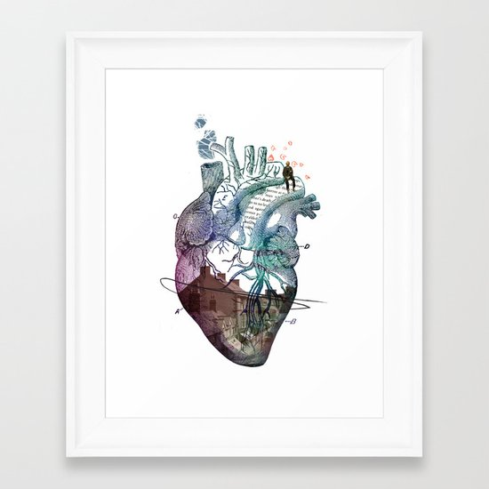 HEART// Framed Art Print