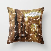 Fractured History Throw Pillow
