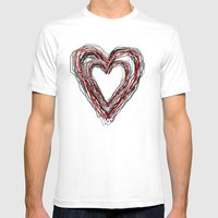 Love Is Sketchy Mens Fitted Tee White SMALL