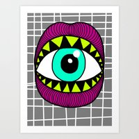 Eye'm Gonna Eat You Art Print