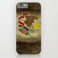 Illinois State flag, vintage on parchment paper Slim Case iPhone 6s