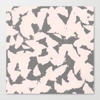 Pastel Pink Bird Wings O… Canvas Print