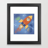 Dreaming my way to the Moon Framed Art Print