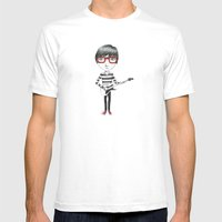 Rock Star Mens Fitted Tee White SMALL