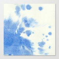 Blue watercolor Canvas Print